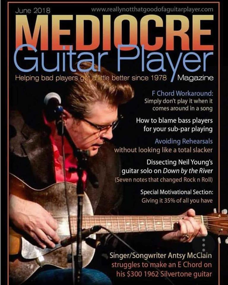 New Issue Of Mediocre Guitar Player Just Hit The Newsstands